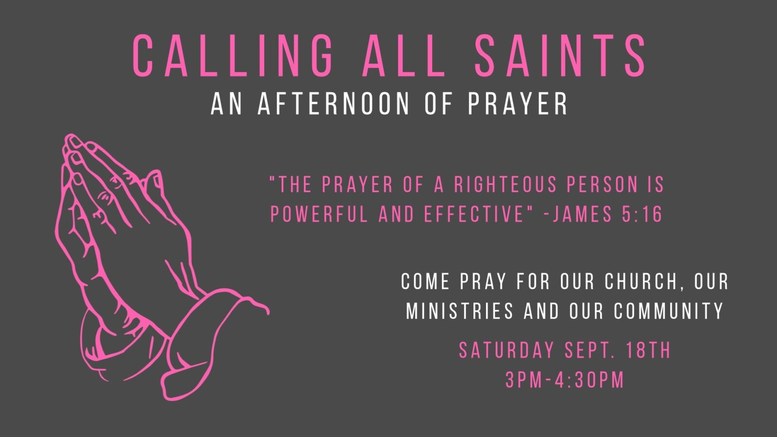 Prayer Afternoon 2021 Presentation