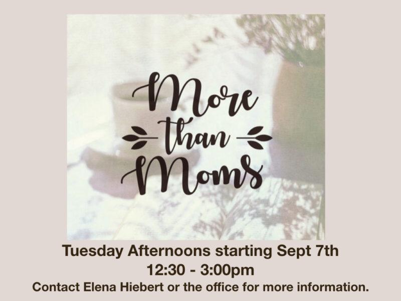 More than Moms Tuesdays 09 2021